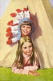 Peter and Jane in a teepee
