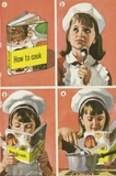 Girl and cook book