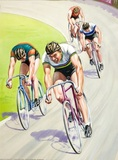 Cycling in a race