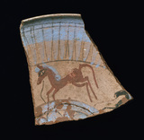 Painted shard depicting a horse