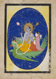 Visnu with consort on Garuda