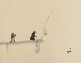 Two monkeys on a jetty