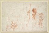 Recto: Hercules and Antaeus and other Studies