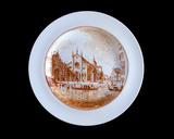 Plate with view of the Church of SS Giovanni e Paolo, Venice