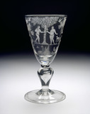 Goblet of baluster form, with Adam and Eve