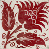Tile with stylised flower