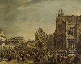 Pope Pius VI blessing the Crowd at Campo SS Giovanni e Paolo, Venice