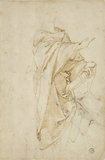 Verso: Study for the Figure Virgil