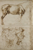 Studies of a Horse and of a Horseman attacking Foot-soldiers