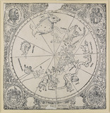 The celestial chart of the southern hemisphere