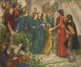Beatrice at a marriage Feast denying her Salutation to Dante