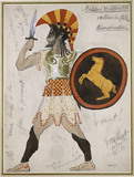 Design for Pollux's Costume in 'Hélène de Sparte'