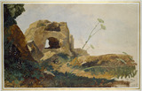 Study of Rocks and Foliage, Agrigento, 1847