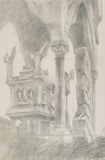 Study for General Chiaroscuro of the Sarcophagus and Canopy of the Tomb of Mastino II della Scala, Verona