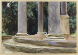 A View between the Columns of a Tempietto