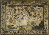 "Embroidered picture: ""Charity Standing in a Landscape"