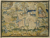 "Embroidered picture: ""Abraham's dismissal of Hagar"""
