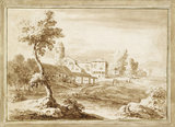 Landscape with Buildings and a Tower