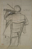 Seated Violinist seen from behind, 1875 - 1876