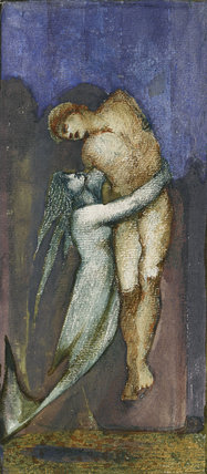 A Mermaid holding a nude Male Figure