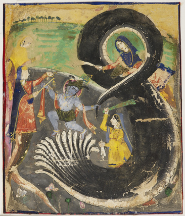 Krsna and the naga Kaliya