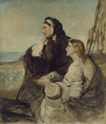 Two Women seated on Deck