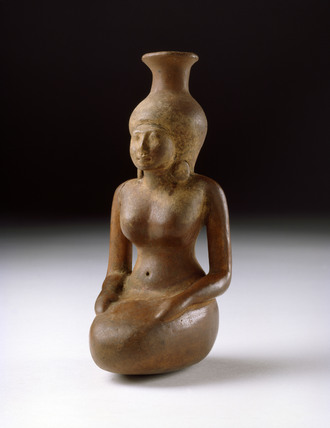 Vase in the shape of a woman