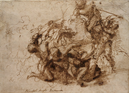 A Battle Scene (?study for the Battle of Cascina)