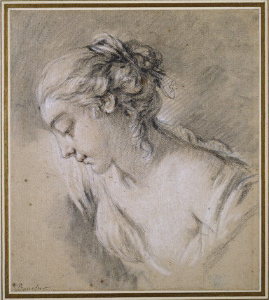 Bust of a Girl in profile to left