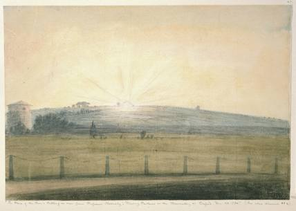 'The place of the Sun's Setting as seen from Professor Hornsby's Dining Parlour at the Observatory at Oxford