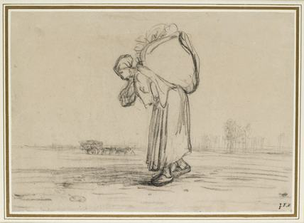 Woman carrying a Sack on her Back