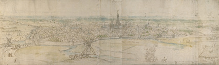 Panoramic View of s'Hertogenbosch (Den Haag) from an elevated Point to the South-West