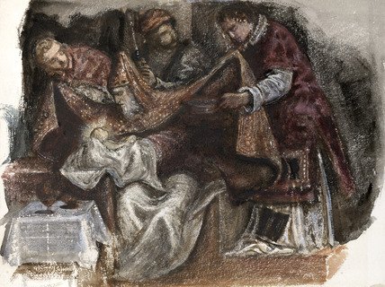Study after Tintoretto's