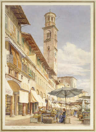 Piazza Erbe Verona, looking South