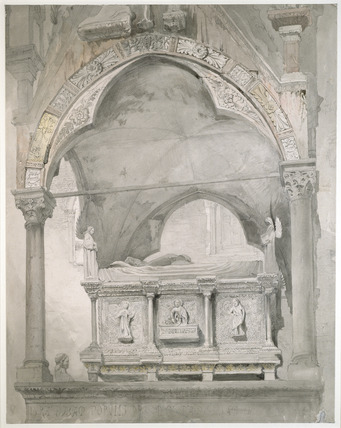 Study for the Detail of the Sarcophagus and Canopy of the Tomb of Mastino II della Scala, Verona