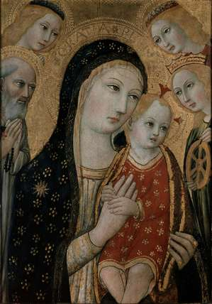 The Virgin and Child with St Jerome, St Catherine of Alexandria and two Angels