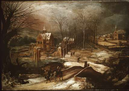 Winter Landscape with the Flight into Egypt