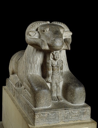 Statue of the ram of Amun