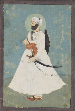 Portrait of a Sikh noble in profile