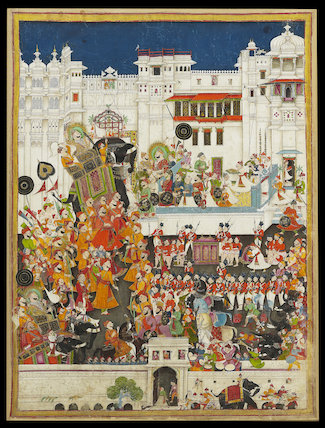 Maharao Ram Singh II's marriage celebrations at Udaipur, probably 1851
