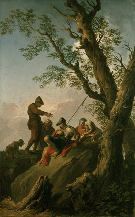 Landscape with Bandits and a Dog