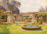 The fountain in the fountain court, Dyffryn