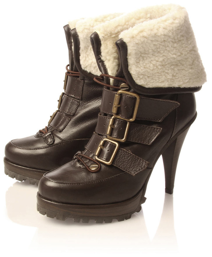 into Shearling+ankle+boots