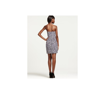 Shoshanna - Snow Leopard Print Tulip Dress in animal(Multi) | Lyst
