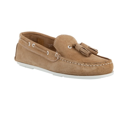 tassel loafers for women. Natural suede tassel loafers
