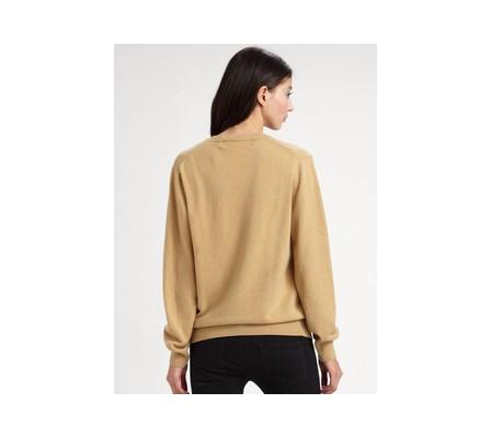 linen v-neck sweater. Comme Des Garçons Wool Vneck