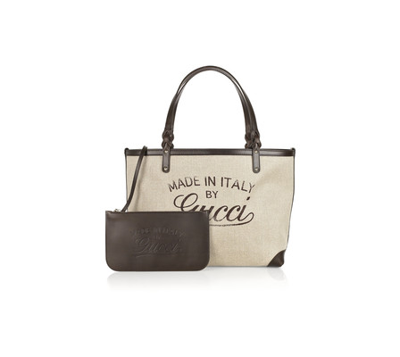 canvas and leather tote. Canvas and Leather Tote in