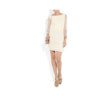 Halston Heritage White Dress. Halston Heritage