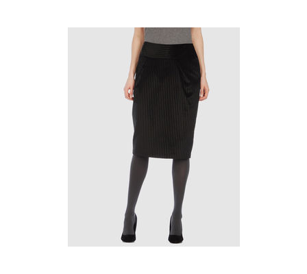 black knee length skirt. Knee Length Skirt in lack
