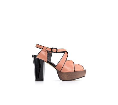 wooden platform sandals. Wood Platform Sandals in